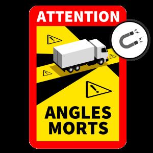 Blind Spot Sign France (Magnetic)