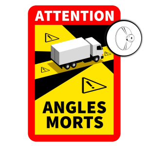 Blind Spot Sign France (Suction Cups)